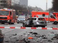 O mașină a explodat în centrul Berlinului; la origine - o bombă