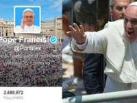 Papa Francisc a depășit pragul de 13 milioane de `followers` pe twitter