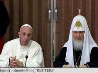 Papa Francisc transmite un mesaj de UNITATE pentru pentru Marele Conciliu Ortodox
