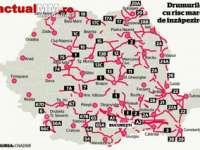 Patru drumuri naționale și mai multe drumuri județene din Maramureș prezintă risc de înzăpezire