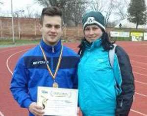 PERFORMANȚĂ - Axeniuc Gabriel, medalie de bronz la Campionatul național de aruncări (suliță) de la Arad