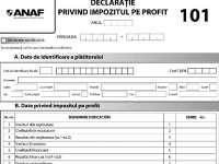 Persoanele juridice nerezidente, obligate să depună declarația privind impozitul pe profit, formularul 101