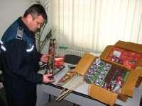 Petarde deţinute ilegal, confiscate de poliţiştii maramureşeni