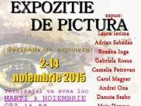 Pictori amatori sigheteni expun în Baia Mare pe 3 noiembrie 2015