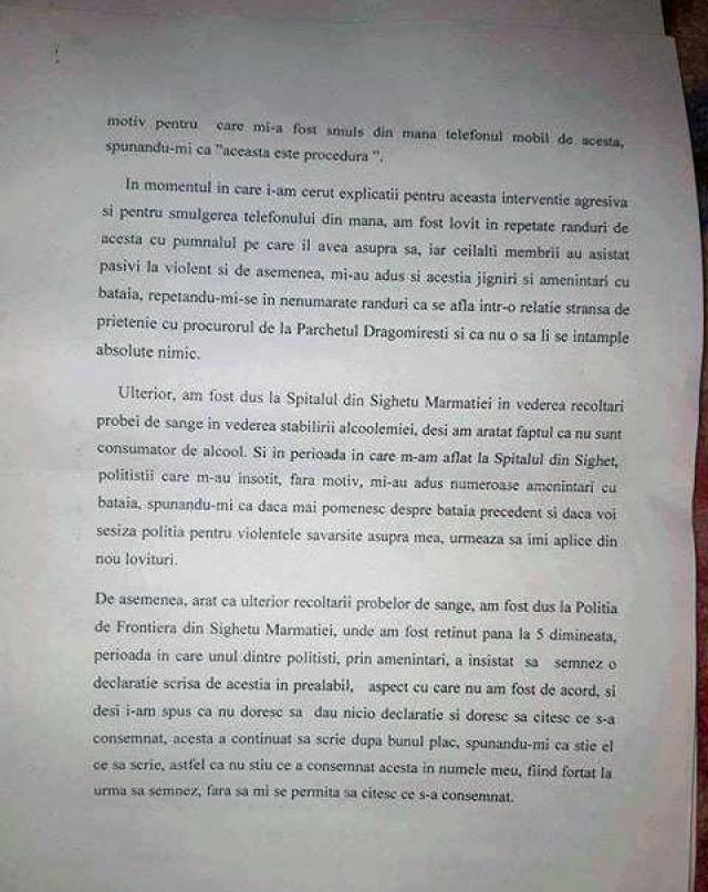 Plângere împotriva a doi polițiști de frontieră pentru purtare și cercetare abuzivă, lovire și distrugere