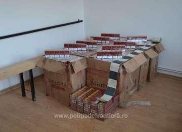 Poienile de sub Munte - 8.000 pachete cu țigări de contrabandă confiscate de polițiștii de frontieră