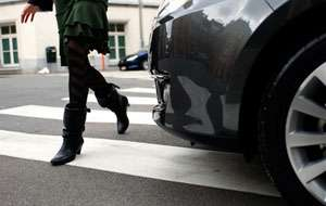 POLIŢIA: Un şofer sighetean a accidentat o persoană pe trecerea pentru pietoni