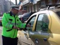 POLIȚIA: Acţiune pentru verificarea legalităţii transportului de persoane în regim de taxi