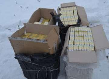 Poliţia de frontieră: Peste 12.000 pachete de ţigări de contrabandă confiscate la Petrova şi Rona de Sus
