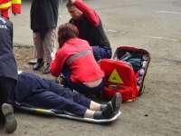 POLIȚIA: Femeie accidentată pe trotuar de către un șofer băut care a părăsit locul faptei
