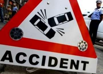 Poliţiştii au intervenit ieri la mai multe accidente rutiere