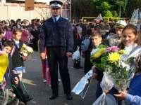 Polițiștii maramureșeni, alături de elevi, la începutul noului an școlar