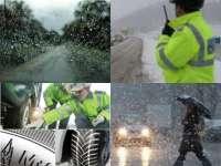Poliţiștii maramureșeni recomandă echiparea autovehiculelor cu anvelope de iarnă