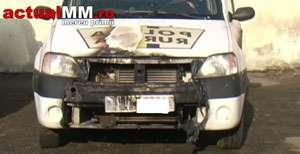 Posibilă mână criminală - O mașină a Poliție a luat foc la Vișeu de Sus
