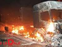 PRACTICI MAFIOTE ÎN MARAMUREȘ - 6 mașini incendiate cu tot cu garaj azi-noapte în comuna Remeți