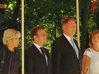 Președintele Franței, primit la Palatul Cotroceni