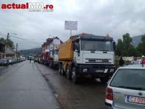 Protest de amploare la Borșa - Peste 500 de oameni au protestat, fiind nemulțumiți de starea jalnică a DN 18