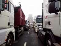 PROTEST: Drumul Gilău – Cluj Napoca – blocat de transportatori