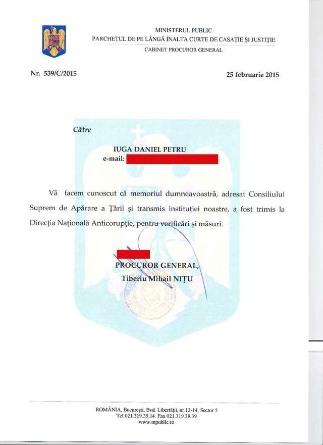 Domnul Iuga Petru, tatăl lui Iuga Emanuel, amenință cu FORME DE PROTEST EXTREME, dacă nu i se va face dreptate