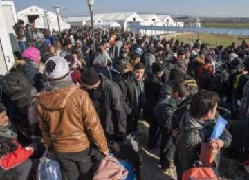 Refugiații din Grecia au manifestat pentru deschiderea frontierelor