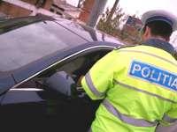 Reţinut de poliţişti pentru comiterea de  infracţiuni la regimul circulaţiei rutiere