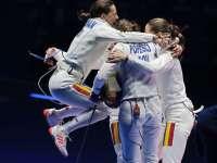 România, campioană olimpică în proba de spadă pe echipe!!!
