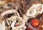 Ruladă picantă cu ciuperci şi carne de porc