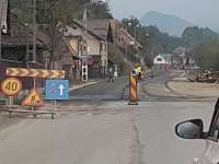 S-a turnat asfalt pe DN 18 Moisei – Borşa Complex