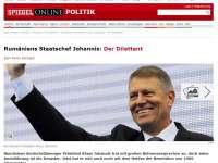 """Săptămânalul german """"Der Spiegel"""" despre Klaus Iohannis: Mandatul lui este un dezastru"""