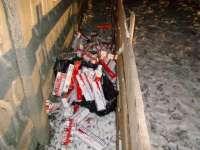 SIGHET: 9.000 pachete de ţigări de contrabandă, descoperite în apropierea frontierei de stat