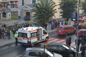SIGHET: ACCIDENT GRAV - O profesoară și încă o femeie au fost accidentate pe trecerea de pietoni din fața Primăriei Sighet