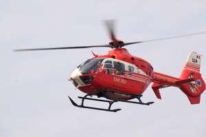 SIGHET: Intervenție aeriană - Victima unui accident forestier, preluată de un elicopter SMURD