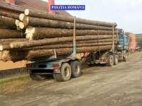 SIGHET - Peste 80 mc lemn confiscat ieri de poliţişti, transportate cu acte false