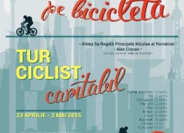 """SIGHET - Principele Nicolae al României ia startul turului ciclist """"Cărţile Copilăriei pe bicicletă"""""""