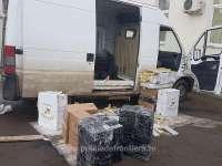 SIGHET - Țigări de contrabandă ascunse într-o autoutilitară