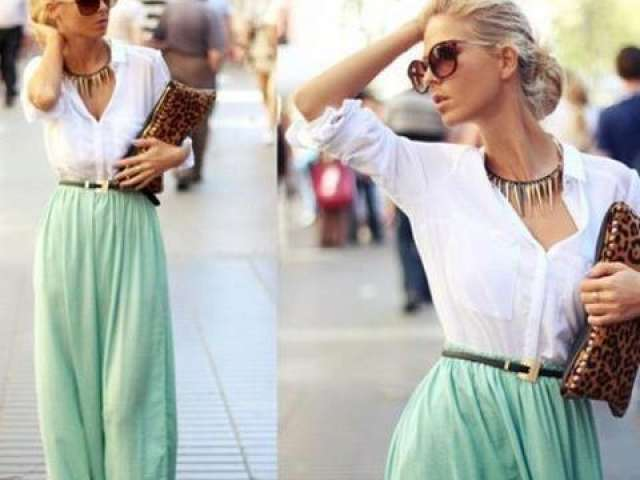 Cum sa porti fusta si rochile maxi  in primavara / vara lui 2013