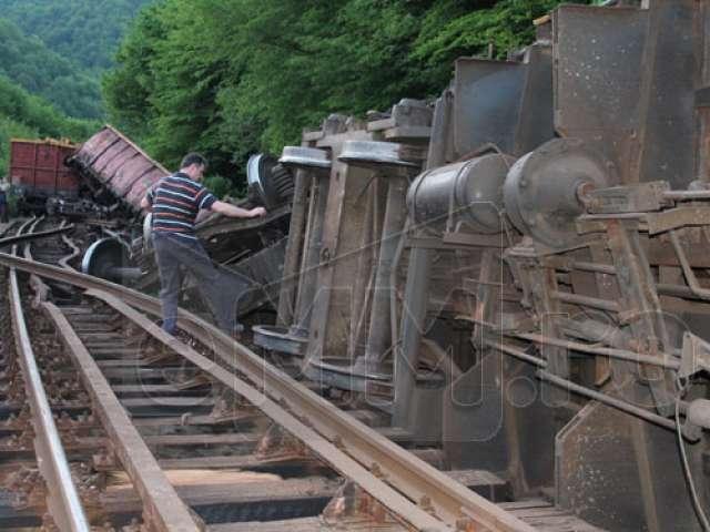 Accidentul feroviar din Telciu este anchetat de procurori