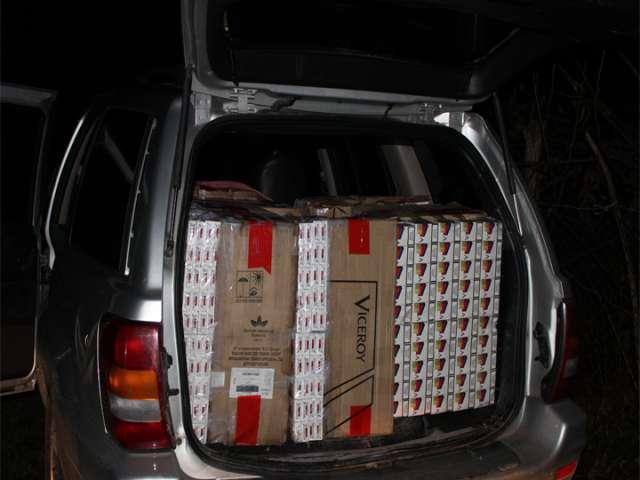 FOTO + VIDEO - Țigări de contrabandă în valoare de 128.000 lei, confiscate la Berbești și la Tisa