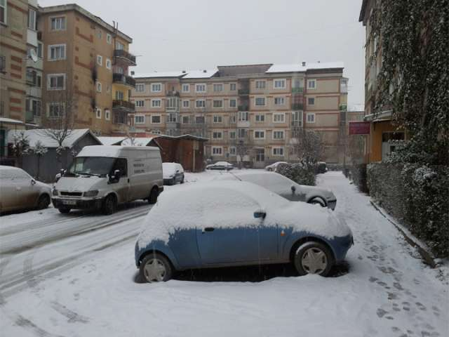 FOTO - Prima zăpadă din această iarnă s-a așternut peste Sighet