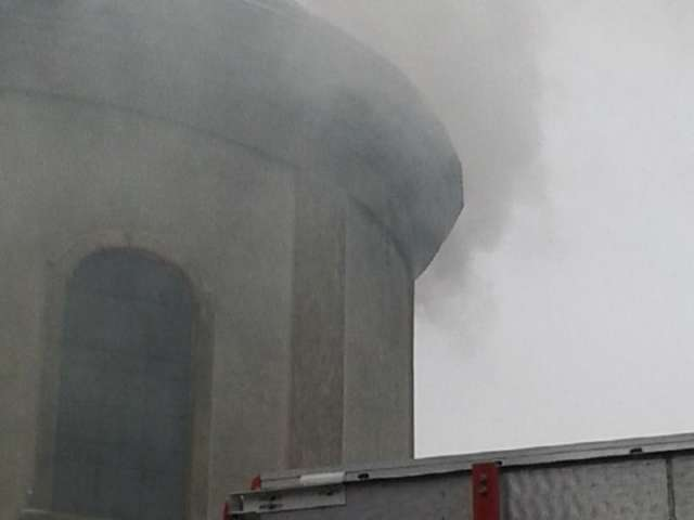 VIDEO + FOTO - Alarmă de incendiu la Biserica Romano-Catolică din Sighet