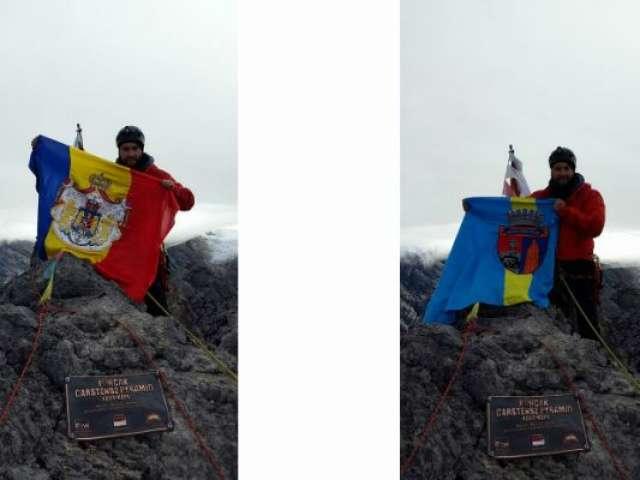 Doi alpiniști din Maramureș au escaladat vârful Carstensz Pyramid - 4.884 metri