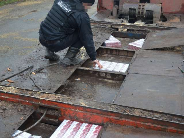 VIDEO: Ţigări de contrabandă ascunse într-un camion cu cherestea depistate de poliţiştii de frontieră în Petrova