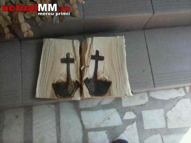 FOTO + VIDEO: SEMN DIVIN LA VIȘEUL DE JOS – Un bărbat a găsit o cruce într-un lemn pe care l-a tăiat
