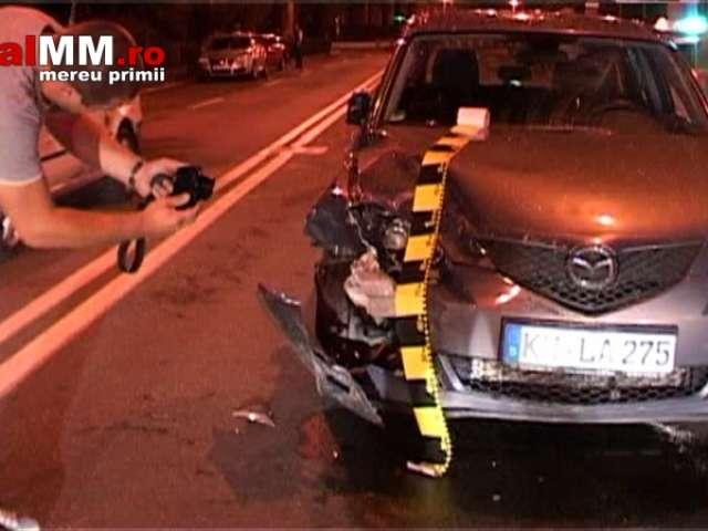 VIDEO: BAIA MARE - Un polițist a fost rănit într-un accident provocat de un șofer beat turtă