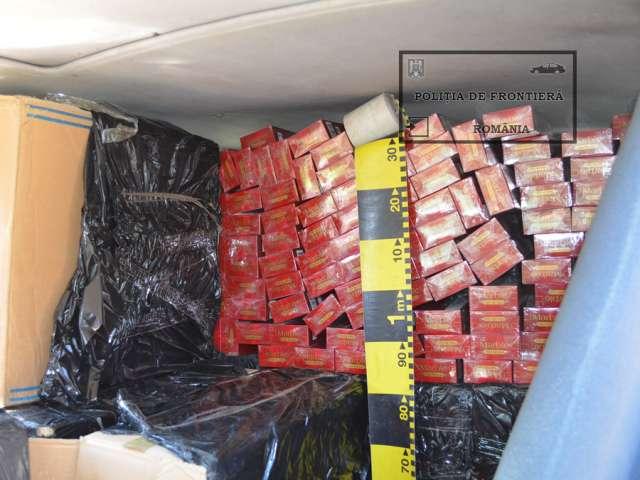VIDEO: Captură de peste 50.000 pachete ţigări la frontiera de nord