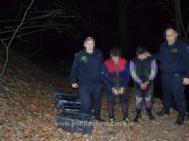 FOTO: CONTRABANDĂ CU ȚIGĂRI - Trei persoane cercetate pentru contrabandă, la frontiera de nord