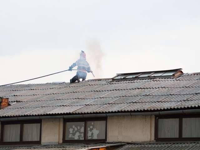 FOTO - Intervenție a pompierilor sigheteni la un incendiu din cartierul Tudor Vladimirescu