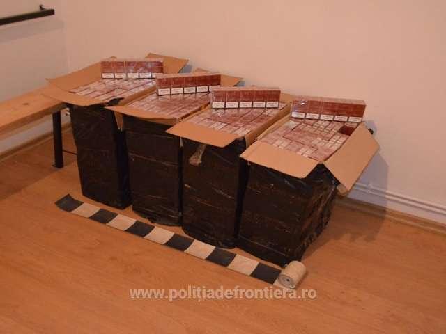 SARASĂU ȘI BRODINA - 14.000 pachete cu ţigări de contrabandă, confiscate de către Polițiștii de frontieră