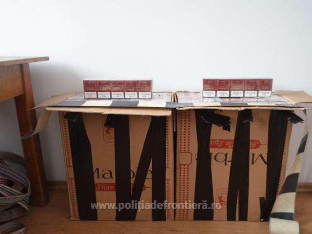 FOTO - Peste 15.500 pachete cu țigări, confiscate la frontiera cu Ucraina