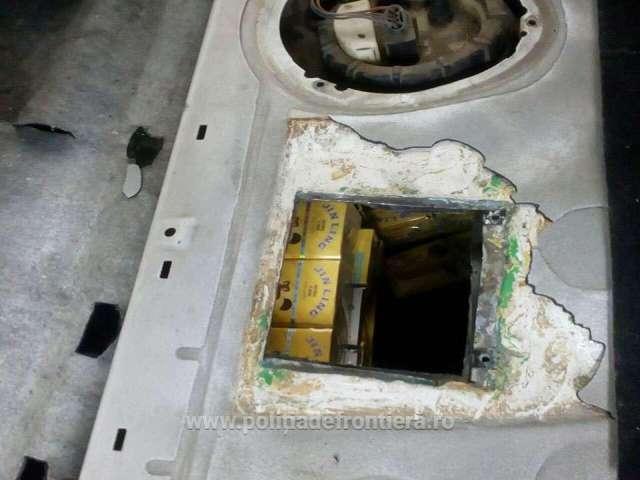 FOTO - Țigări de contrabandă, confiscate la frontiera de nord